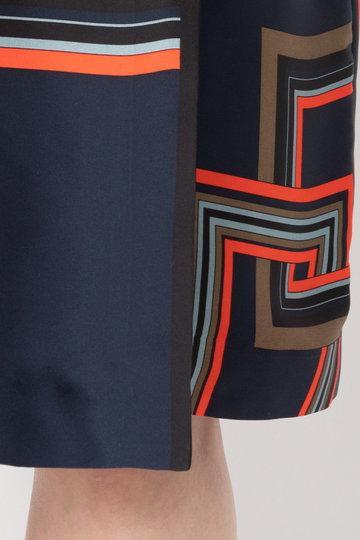 エリオポール/HELIOPOLEのブライトサテン スカーフ ワンピース(カーキ/4193-1412)