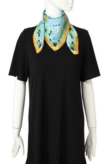 エリオポール/HELIOPOLEの【manipuri】カーペット柄スカーフ(ブルー/RELIEF65X65)