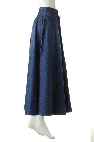 エリオポール/HELIOPOLEの【woadblue】VERBENA Aライン インタック スカート(ブルー/WB18451)