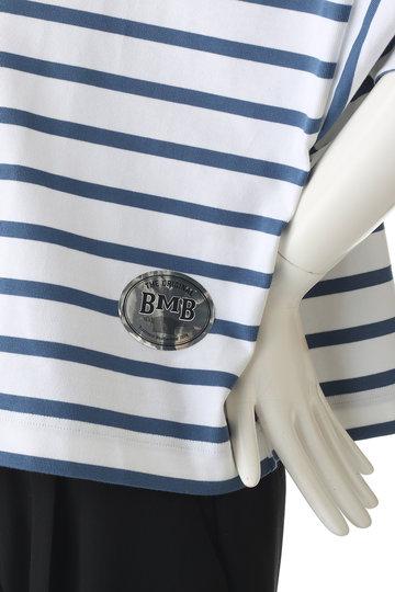 エリオポール/HELIOPOLEの【Traditional Weatherwear】HELIOPOLE別注 ビッグマリン ボートネックシャツ ショートスリーブ(ホワイト/L191HJPO0221KC)