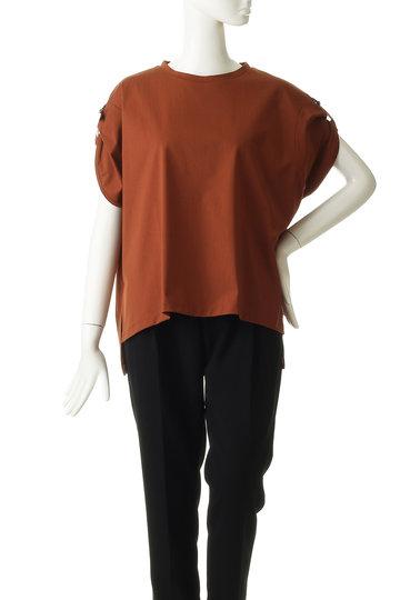 エリオポール/HELIOPOLEの肩リボンTシャツ(ホワイト/4195-8802)