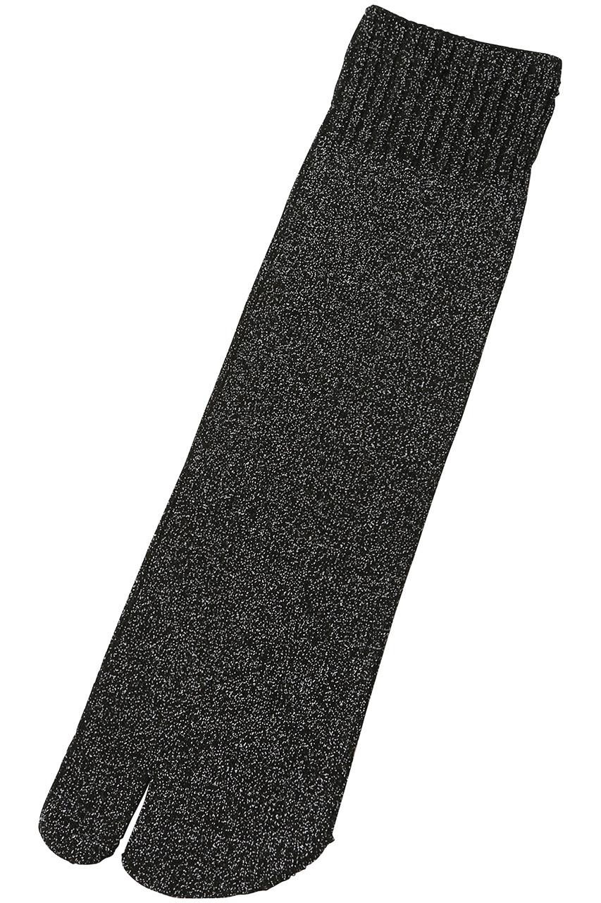 ダブルアンドエフダブル/w&fwのラメ タビソックス(ブラックラメ/WL-E13)