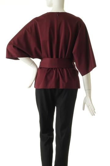 エブール/ebureのハイゲージスーピマコットンベルテッドTシャツ(バーガンディ/2810900309/18FWCS09)