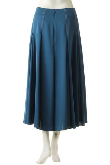 エブール/ebureのレーヨンツイルスカート(ブルー/2810500090/18FWSK05)