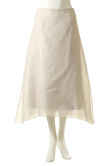 エブール/ebureのシルクオーガンジースカート(ライトベージュ/2810500161/18FWSK17)
