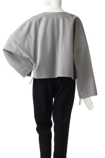 エブール/ebureのラムナッパレザー ノーカラージャケット(ホワイト/2910400098/19SSJK03)