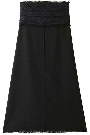 エブール/ebureのフリンジオックスタイトフレアスカート(ブラック/2910500103/19SSSK 12)