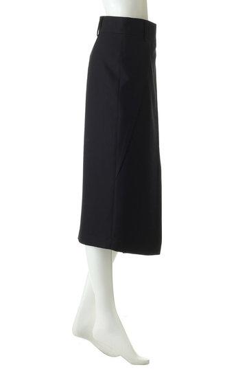 エブール/ebureのビスウールボトムスタイトスカート(ブラック/2910500093/19SSSK16)
