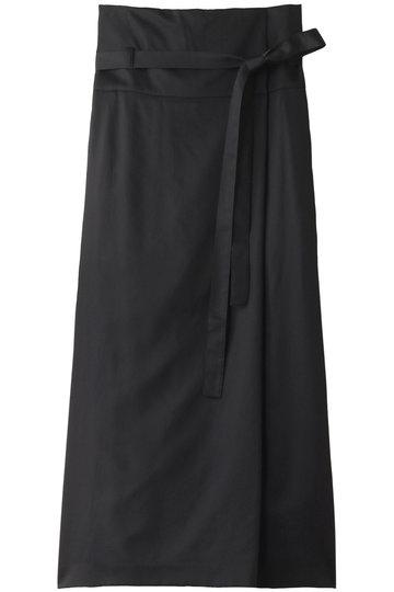 エブール/ebureのコットンキュプラサテン タイトロングスカート(ブラック/2910500413/19SSSK40)
