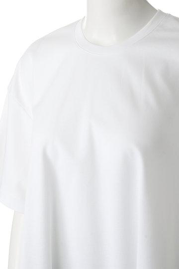 エブール/ebureのハイゲージコットンポンチ クルーネック五分袖Tシャツ(ネイビー/2910900841/19SSCS15)