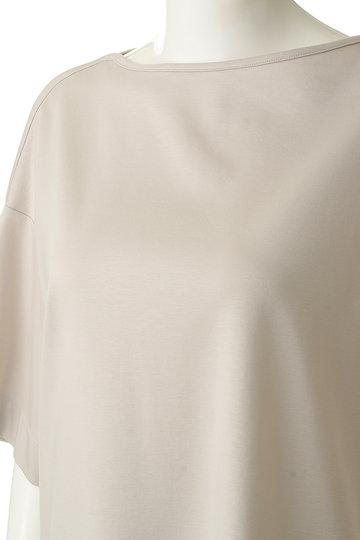 エブール/ebureのハイゲージコットンポンチ ボートネックTシャツ(ベージュ/2910900842/19SSCS16)