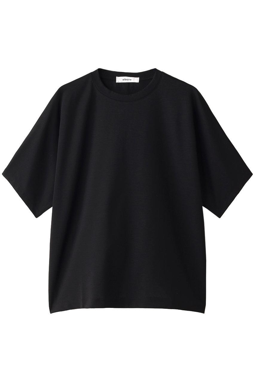 ebure エブール 超長綿スーピマコットン クルーネックTシャツ ブラック