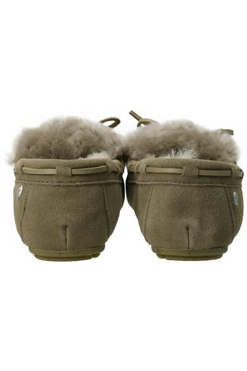エミュ オーストラリア/EMU AustraliaのAMITY CUFF SUEDE モカシン(ブラック/チャコール/AMITY CUFF SUEDE)