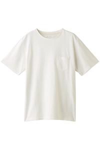60%OFF!<ELLE SHOP>メンズ(MENS)SEERSUCKER POCKET TEE/Tシャツ オフホワイト画像