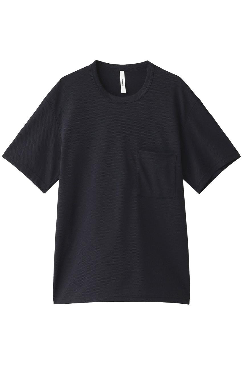 ATTACHMENT アタッチメント メンズ(MENS)ポリエステルハニカムニット ポケット付クルーネックTシャツ ネイビー