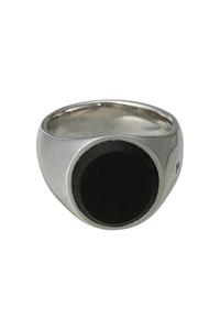 <ELLE SHOP>【TOM WOOD】ブラックオニキスリング オーバル(WOMENサイズ) ブラック