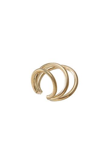 【Saskia Diez】WIRE BOLD イヤーカフ TRIPLE 750 AU ゴールド