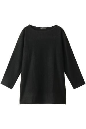 シャギークルーネックロングTシャツ ミズイロインド/mizuiro ind