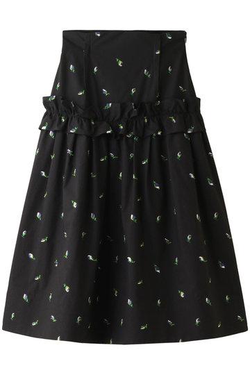 4b0bad7b622c leur logette|フラワー刺繍スカート/ブラック の通販|ELLESHOP・(エル ...