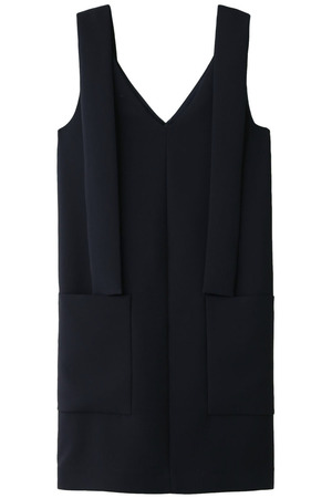 Vネックドレス