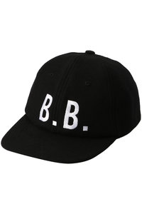<ELLE SHOP> Brooks Brothers ブルックス ブラザーズ メンズ(MENS)ウール/ナイロン B.B. ベースボール キャップ ブラック/ホワイト画像