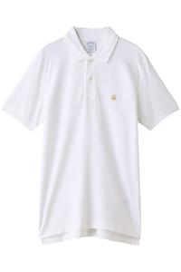 <ELLE SHOP> Brooks Brothers ブルックス ブラザーズ メンズ(MENS)GF スーピマコットンピケ パフォーマンス ポロシャツ Slim Fit ホワイト