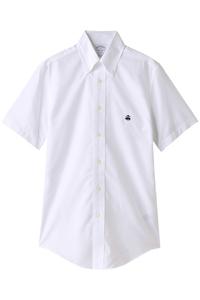<ELLE SHOP> Brooks Brothers ブルックス ブラザーズ メンズ(MENS)ノンアイロン ブルックスクール スーピマコットン GF ショートスリーブ スポーツシャツ Regent Fit ホワイト