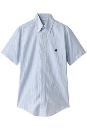 【MEN】ノンアイロン ブルックスクール スーピマコットン GF キャンディストライプ ショートスリーブ スポーツシャツ Regent Fit ブルックス ブラザーズ/Brooks Brothers