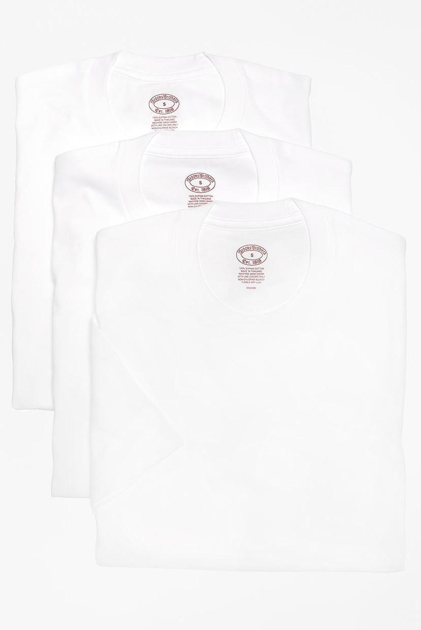ブルックス ブラザーズ/Brooks Brothersの【MEN】スーピマコットン 3パック クルーネック Tシャツ(ホワイト/100080944)