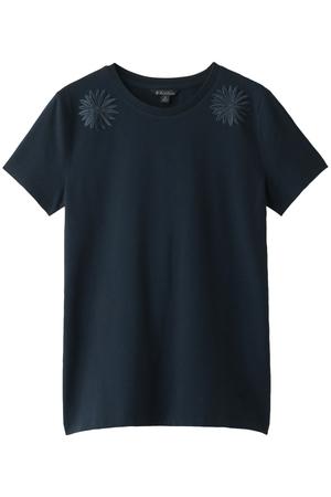 コットン ストレッチジャージ フローラルエンブロイダリー Tシャツ ブルックス ブラザーズ/Brooks Brothers