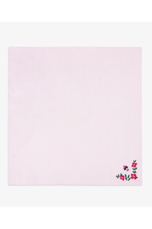 【Red Fleece】GF コットン ストライプ フラワーエンブロイダリー ハンカチ ブルックス ブラザーズ/Brooks Brothers
