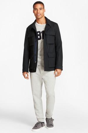 【MEN】【Red Fleece】ウール/ナイロン メルトン フィールドジャケット ブルックス ブラザーズ/Brooks Brothers