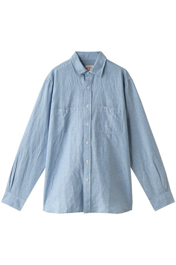 Brooks Brothers ブルックス ブラザーズ メンズ(MENS)【Red Fleece】リネン/コットンシャンブレー スポーツシャツ ブルー