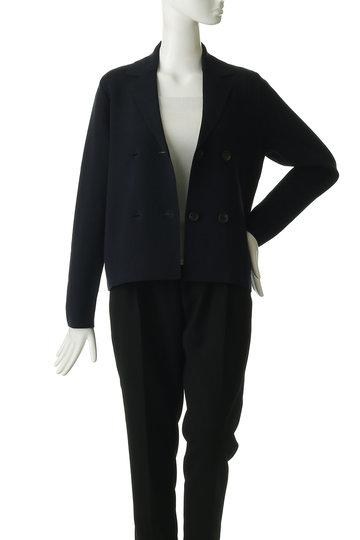 ブルックス ブラザーズ/Brooks Brothersの【Red Fleece】レーヨン/ナイロン ミラノリブ ダブルブレスト ニットジャケット(ネイビー/66619170)