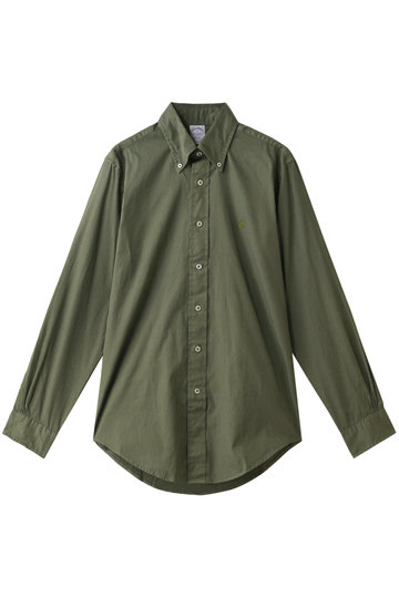 Brooks Brothers ブルックス ブラザーズ メンズ(MENS)GF コットンツイル ガーメントダイ スポーツシャツ Regent Fit オリーブグリーン
