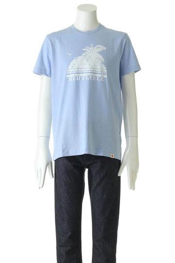 ブルックス ブラザーズ/Brooks Brothersの【MEN】【Red Fleece】コットンジャージー サマープリント Tシャツ(ライトブルー/32718060)