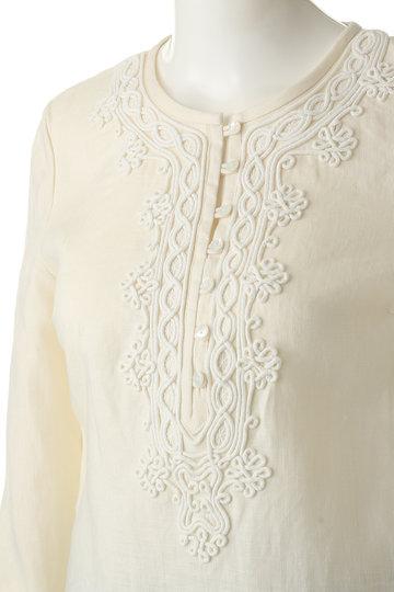 ブルックス ブラザーズ/Brooks Brothersのリネン コードエンブロイダリー 3/4スリーブチュニックシャツ(クリーム/63619360)