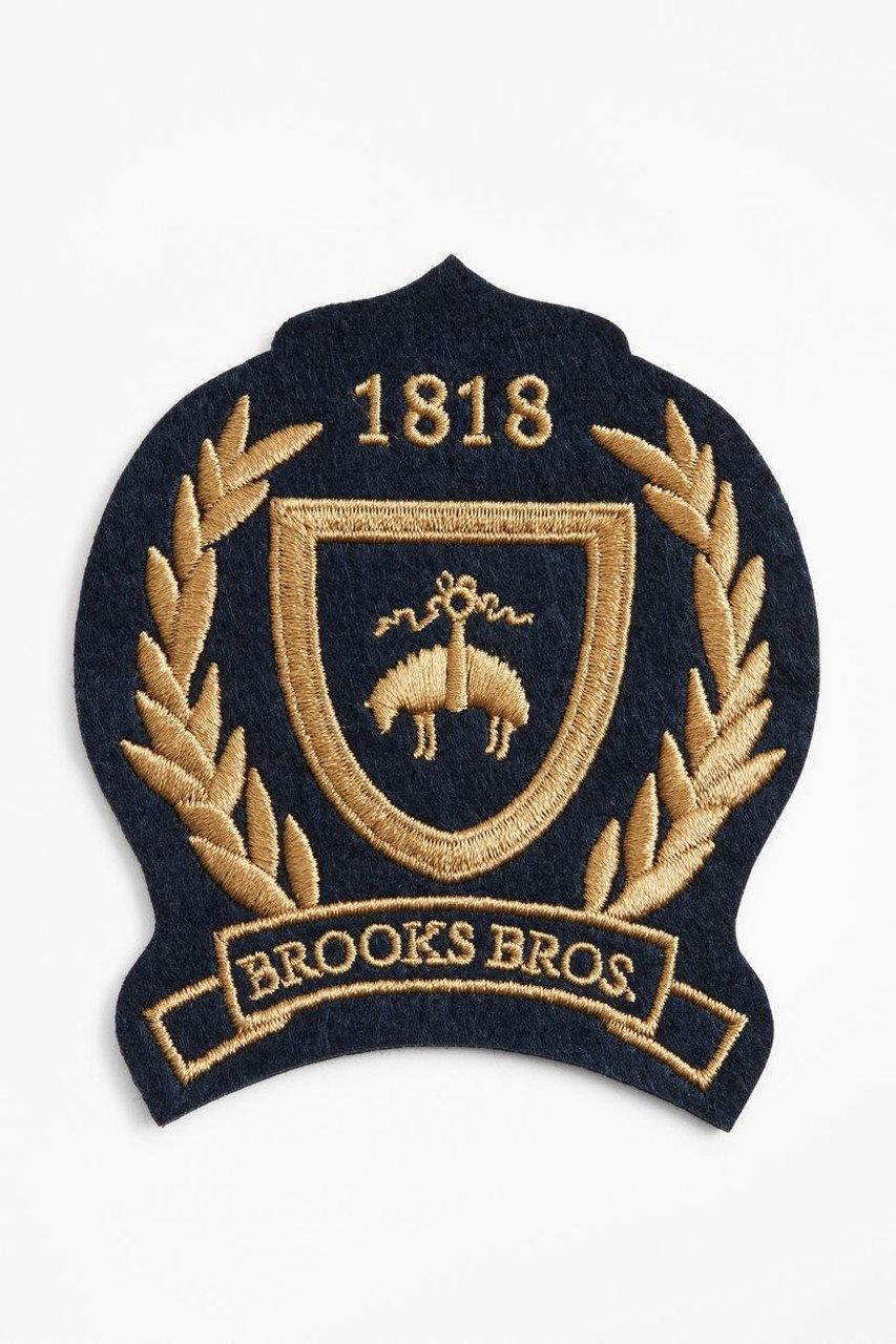 Brooks Brothers ブルックス ブラザーズ メンズ(MENS)1818/GFシールド パッチ ネイビー/ゴールド