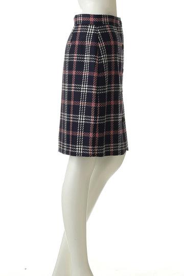 ブルックス ブラザーズ/Brooks Brothersの【Red Fleece】 ウール/ポリエステル プラッド ボタンフロントAラインスカート(ネイビーマルチ/60429150)