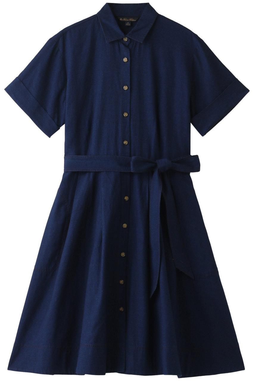 ブルックス ブラザーズ/Brooks Brothersのコットンオックスフォード ショートスリーブ シャツドレス(インディゴ/66729070)