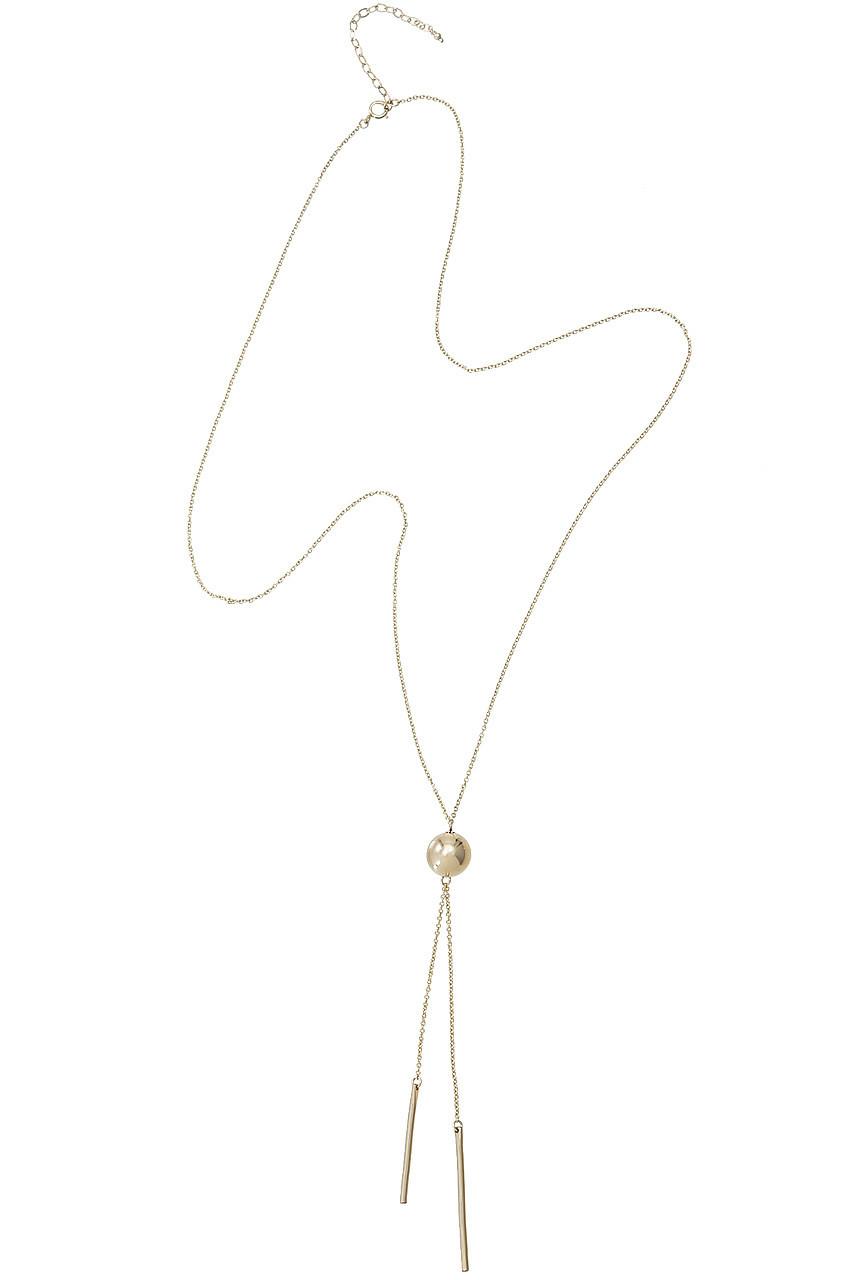 ナチュラリ ジュエリ/NATURALI JEWELRYのゴールドボールスイングY字ネックレス(ゴールド/N1802PL2OTFRN600)