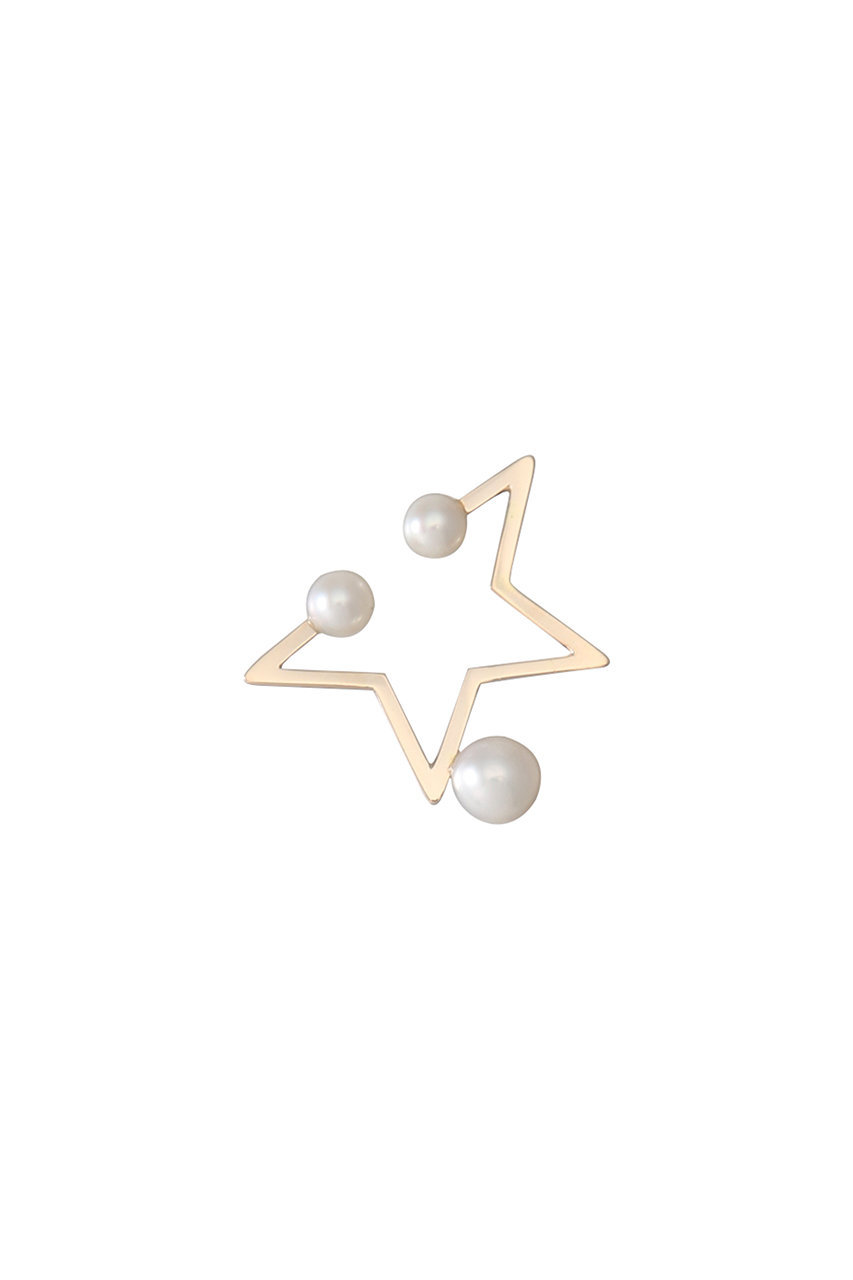 ナチュラリ ジュエリ/NATURALI JEWELRYのK10 パールスターイヤカフ(パール/P1902RB1OTFR0000)