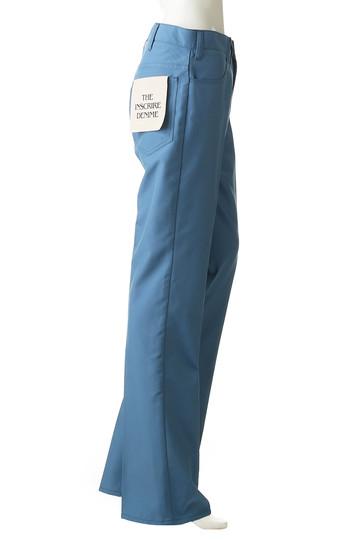 アンスクリア/INSCRIREのキャンバス ステイ・プレストパンツ(ブルー/I19SS-PT30A)