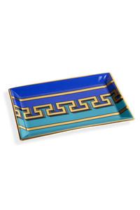 <ELLE SHOP>【JONATHAN ADLER】ジオメトリックトレー(長方形) ブルー