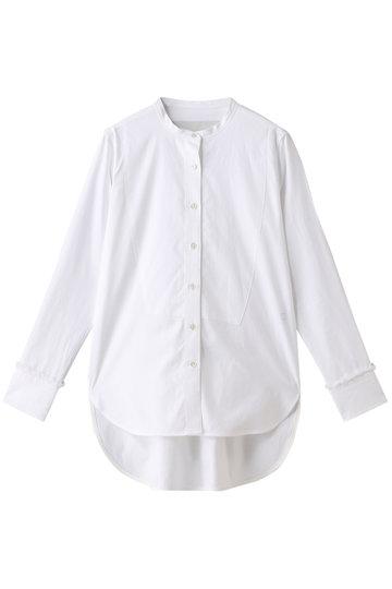 ティッカ/TICCAのビブヨークフリンジシャツ(ホワイト/0293401025)