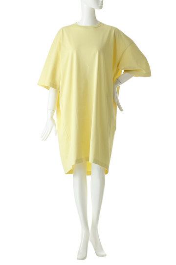アンフィル/unfilのスビンコットンジャージーオーバーサイズTシャツドレス(バナナ/ONSP-UW142)