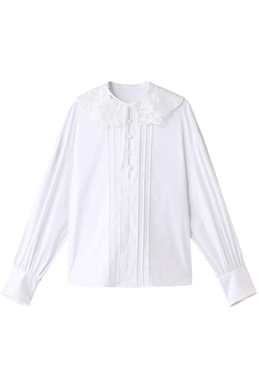 アルアバイル/allurevilleの【Loulou Willoughby】ブロード付け襟シャツ(ホワイト/2121101308065020)