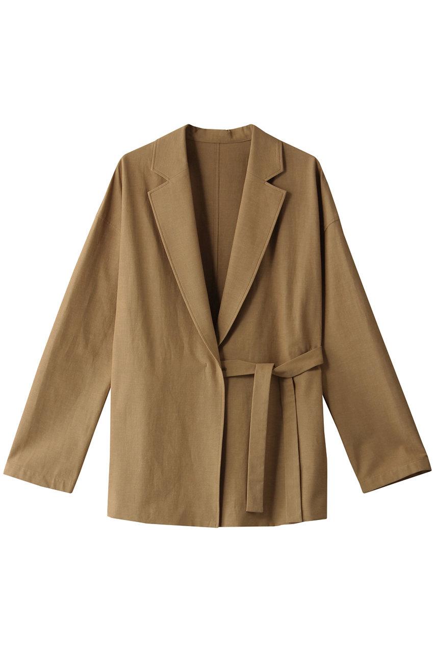 アルアバイル/allurevilleのリネンストレッチサイドノットジャケット(ベージュ/2021101001091010)