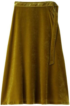 【Loulou Willoughby】クラッシュベルベットベルト付スカート アルアバイル/allureville