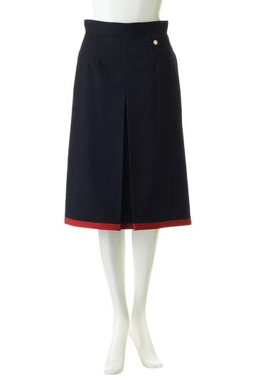 アルアバイル/allurevilleのトリコチン配色スカート(ネイビー/2019101107065020)